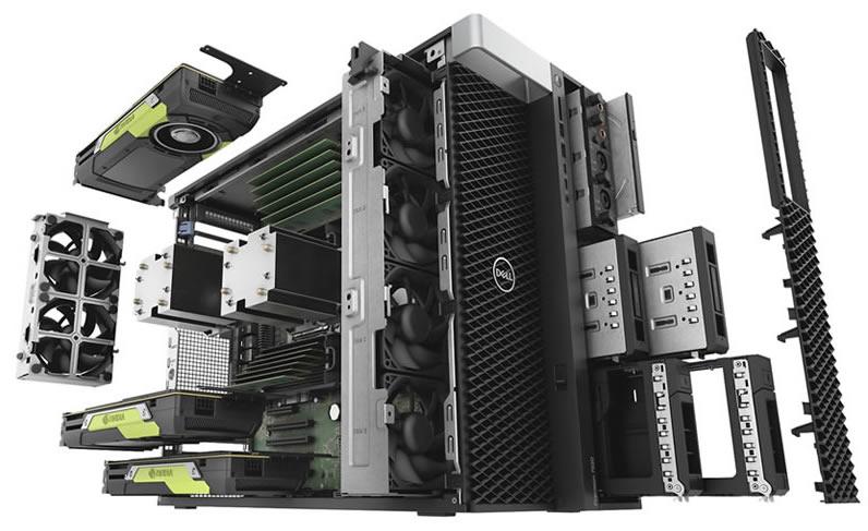 Dell Precision T7920 bileşenler