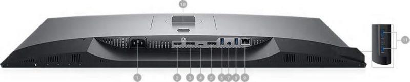 Dell U2421HE Portlar